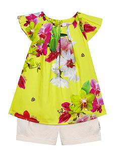 baker-by-ted-baker-baby-girl039s-floral-print-top-amp-textured-shorts-set