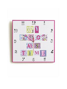 Arthouse Patchwork Hearts Clock