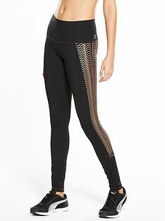 puma-kylie-jennernbspvelvet-rope-lace-print-leggings-black