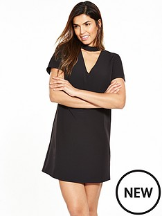 v-by-very-high-neck-choker-dress