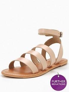 v-by-very-cherish-leather-multi-strap-flat-sandal-nude