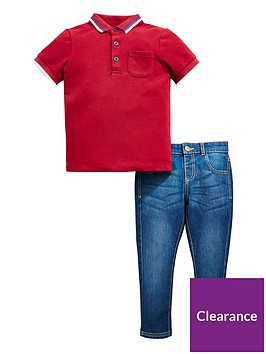 mini-v-by-very-boys-polo-amp-washed-jean-outfit