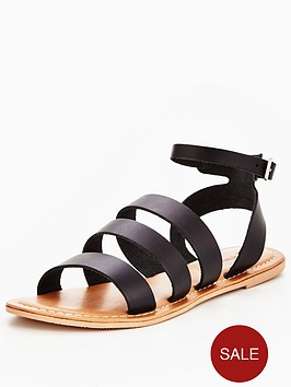 v-by-very-cherish-leather-multi-strap-flat-sandal-black