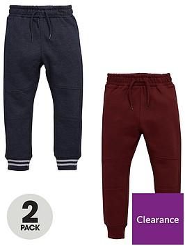 mini-v-by-very-boys-2pk-panelled-knee-joggers