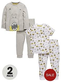 mini-v-by-very-boys-2pk-monster-pyjamas