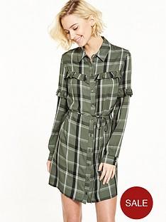 miss-selfridge-frill-check-dress