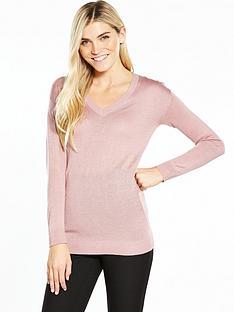 v-by-very-cut-out-v-neck-jumper-blush-pink