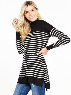 v-by-very-stripe-turtleneck-split-side-tunic