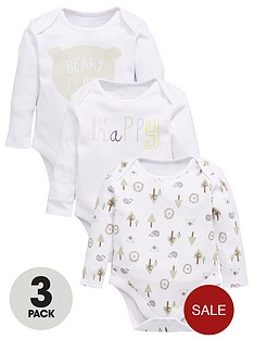 mini-v-by-very-mini-v-by-verynbspbaby-unisex-3-pack-bear-amp-slogan-bodysuits