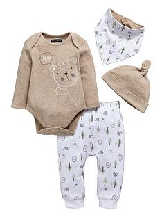 mini-v-by-very-baby-unisex-4pc-bear-hat-bib-bodysuit-amp-jogger-set