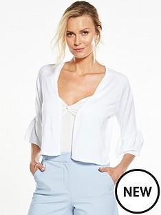 v-by-very-frill-sleeve-short-cardigan