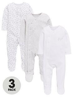 mini-v-by-very-baby-unisex-3pk-stars-sleepsuits