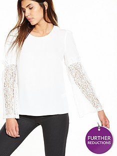 v-by-very-lace-sleeve-blouse