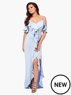 jessica-wright-poppie-frill-bardot-maxi-dress