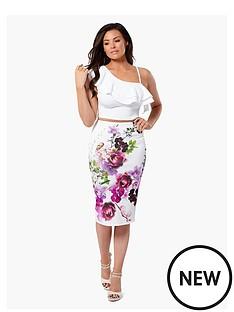 jessica-wright-beatrix-floral-bodycon-skirt