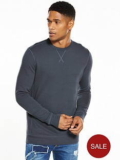 river-island-muscle-fit-loopback-crew-sweat