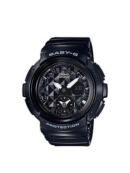 BabyG Casio Baby G Studded Dial Black Strap Watch