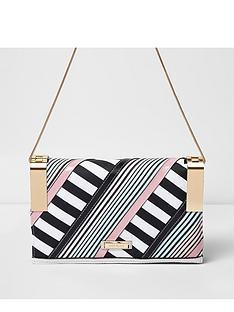 river-island-stripe-hinge-crossbody-bag