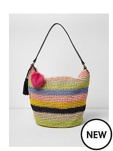 river-island-river-island-weave-stripe-hobo-slouch-bag