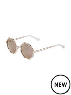 river-island-river-island-gold-cutout-octagon-frame-sunglasses