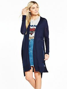 v-by-very-tie-front-cardigan-navy