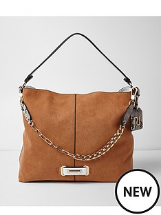 river-island-river-island-chain-detail-slouch-shoulder-bag