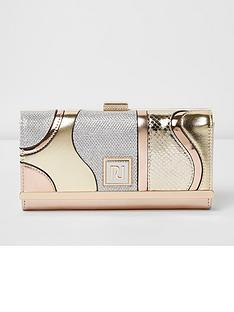 river-island-river-island-metallic-swirl-cliptop-purse