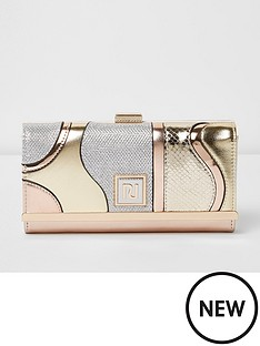 river-island-river-island-metallic-swirl-cliptop-purse