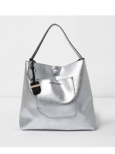 river-island-metallic-slouch-beach-tote