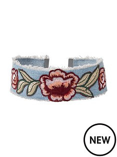 river-island-rose-embroidery-choker