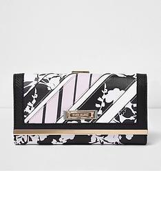 river-island-mono-floral-clip-top-purse