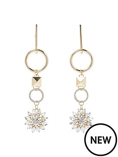 river-island-drop-hoop-flower-earrings