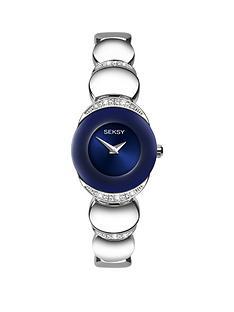 seksy-blue-dial-bangle-bracelet-stainless-steel-ladies-watchnbsp