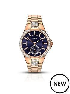 seksy-blue-detail-dial-rose-tone-stainless-steel-bracelet-watch