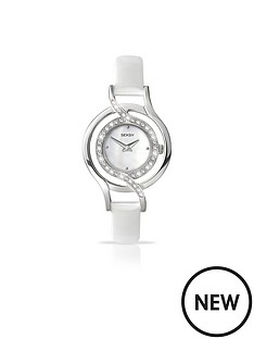 seksy-white-dial-diamonte-detail-white-strap-ladies-watch