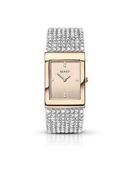 seksy-rose-tone-dial-diamonte-bracelet-ladies-watch