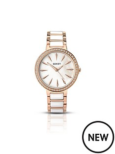 seksy-seksy-white-dial-rose-tone-bezel-bracelet-ladies-watch