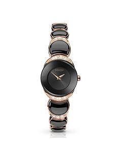 seksy-black-dial-rose-tone-amp-black-bracelet-ladies-watch