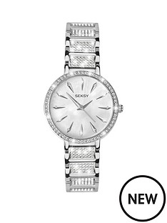 seksy-silver-tone-dial-diamonte-detail-bracelet-ladies-watch