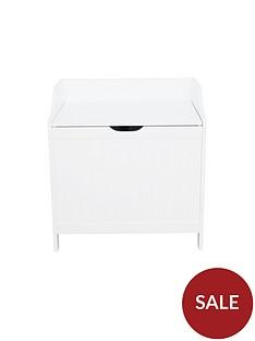 lloyd-pascal-portland-laundry-hamper-white