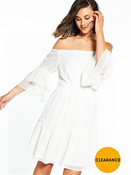 vila-conna-off-shoulder-frill-dress