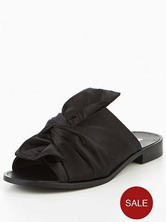 v-by-very-karma-satin-knotted-slider-black