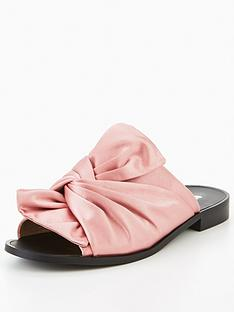 v-by-very-karma-satin-knotted-slider-pink