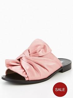 v-by-very-karma-satin-knotted-slider-pink
