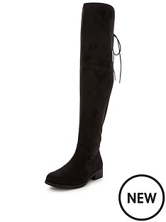 v-by-very-lacey-tie-back-over-the-knee-boot-black