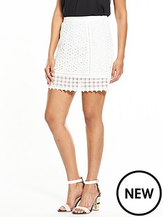 miss-selfridge-lace-skirt-creamnbsp