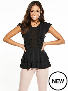 v-by-very-lace-panel-frill-top