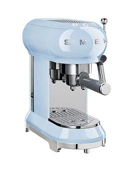 Smeg   Ecf01 Espresso Coffee Machine - Pastel Blue