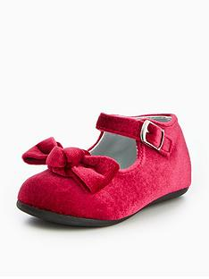 mini-v-by-very-dixie-velvet-bow-baby-strap-shoe