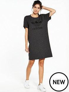 adidas-originals-trefoil-tee-dress-black-melangenbsp